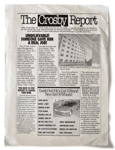 First hard copy of the CrosbyReport circa 1990.