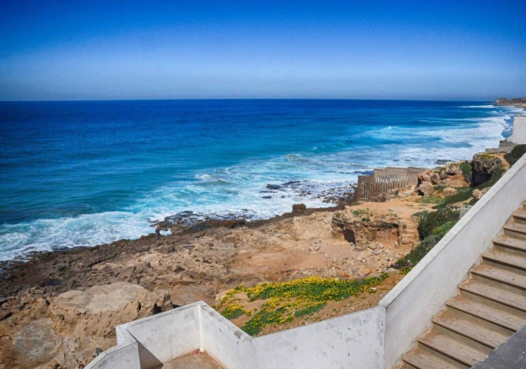 The coast of Africa near Tangier Morocco