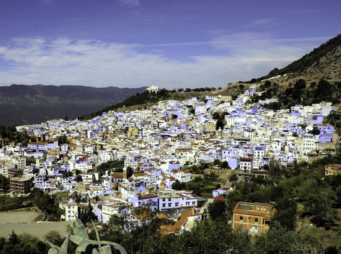 "Chefchaouen Morocco is called the ""Blue City"" because people have eyes."