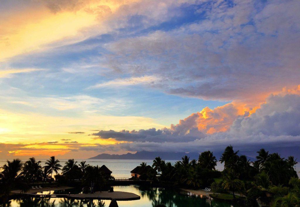 Sunset off Tahiti