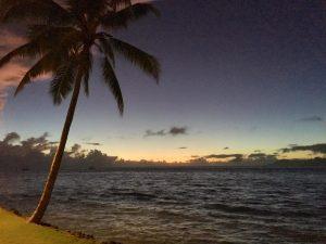 Tahiti at night