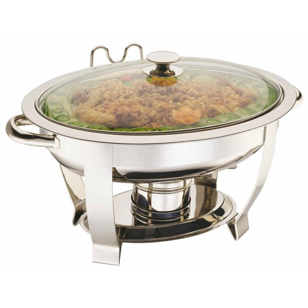 Elia Standard Oval Chafing Dish with Glass Lid  Crosbys
