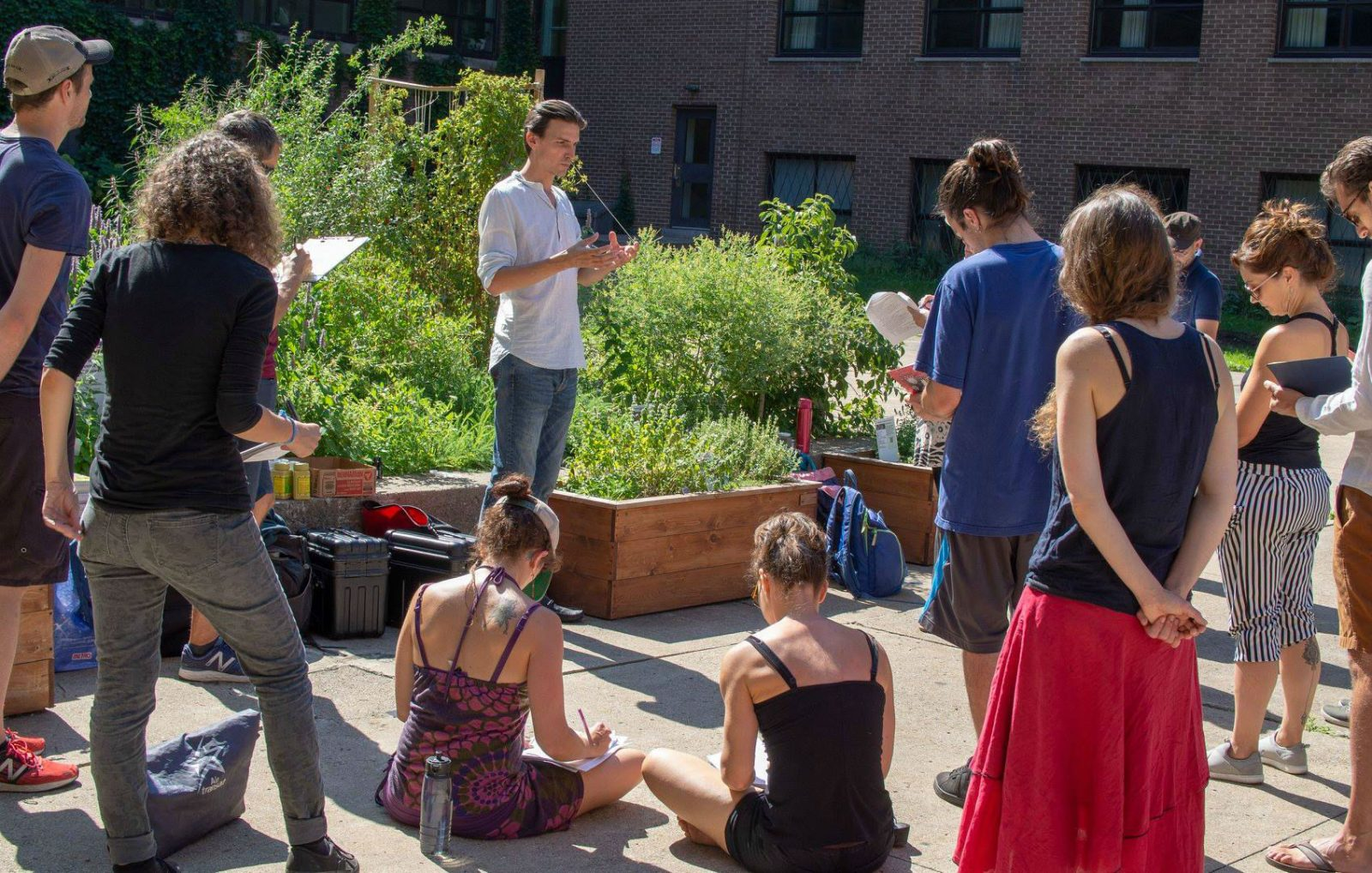 jardin collectif du college college