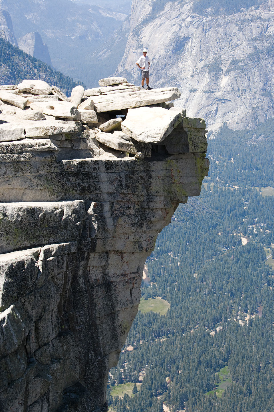 Dad on Half Dome ledge  TJG  Lolos Extreme Cross Country RV Trips
