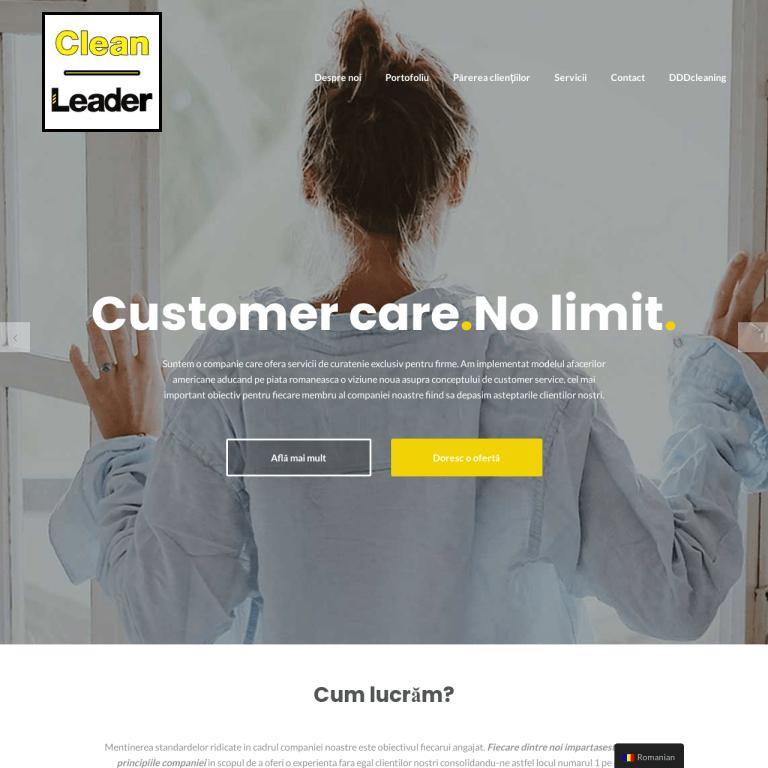 Clean Leader – Suntem NUMARUL 1 pe piata serviciilor de curatenie sub aspectul GRIJA FATA DE CLIENT