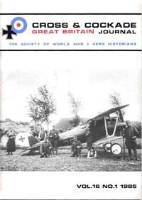 Cross and Cockade International: The First World War