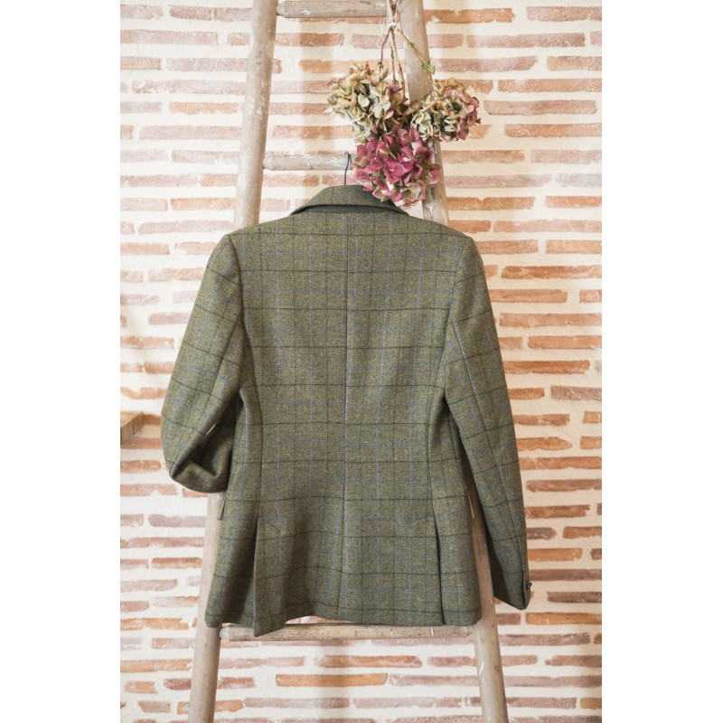 Veste anglaise femme Green check  Cross  Country