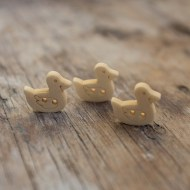 Wooden Duck Buttons