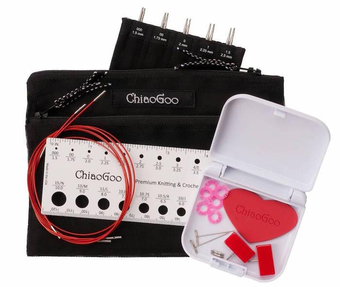TWIST Red Lace Interchangeable needle 13cm ChiaoGoo Needles TWIST Set