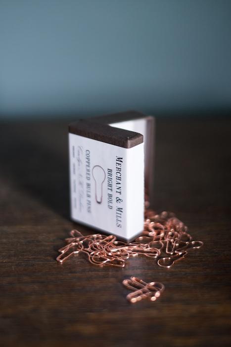 copper bulb head pins