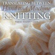 Translating Between Hand and Machine Knitting - Vikki Haffenden