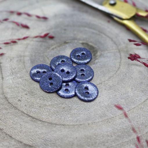 Atelier Brunette glitter-buttons-cobalt