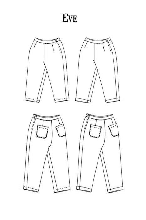Merchant & Mills Eve trousers pattern