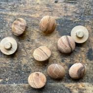 Laser engraved olive wood buttons