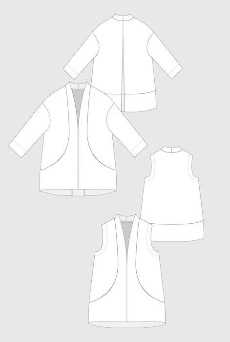 Flynn Jacket Back Pattern