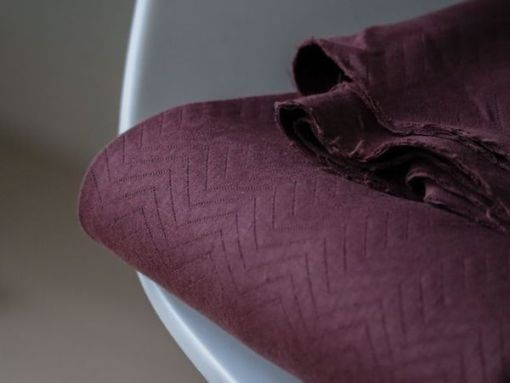 Mind the Maker quilted chevron Bordeaux