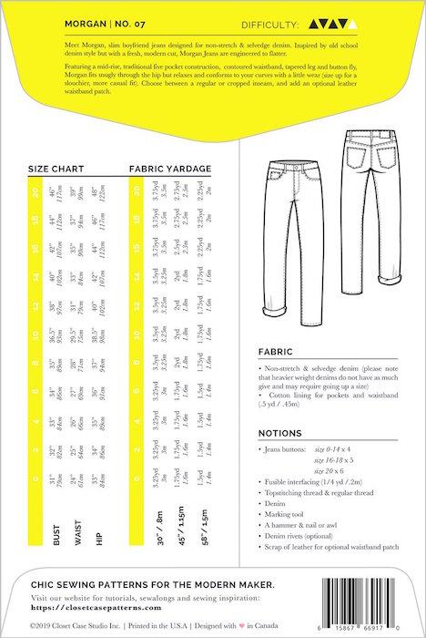 Morgan Jeans Pattern Back