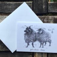 Salina Jane Art Greeting Card - Hebridean Sheep