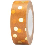 Rico Design - Mustard and Gold Dots Washi Tape