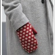 CaMaRose Women's polka dot mitts 072