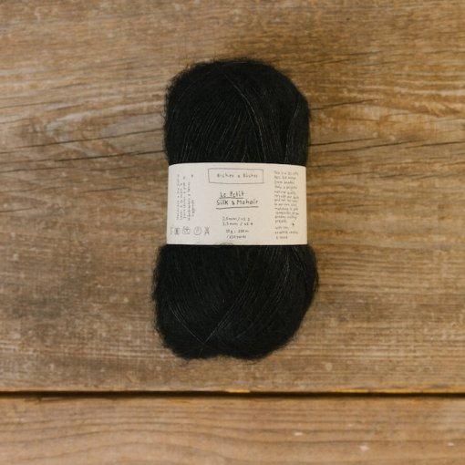 Biches & Bûches Le petit silk mohair Black