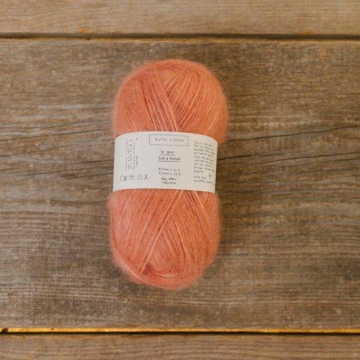Biches & Bûches le gros silk & mohair orange pink