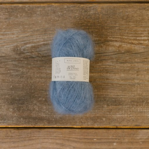 Biches & Bûches le petit Silk mohair medium blue