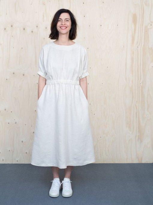 The Assembly Line Cuff Dress white dress