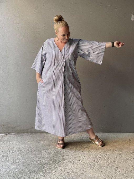 The Assembly Line - Kaftan Dress striped dress