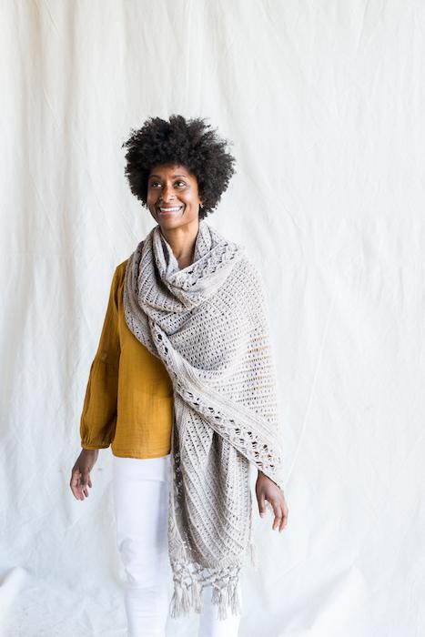Making No 10 INTRICATE Apollo shawl