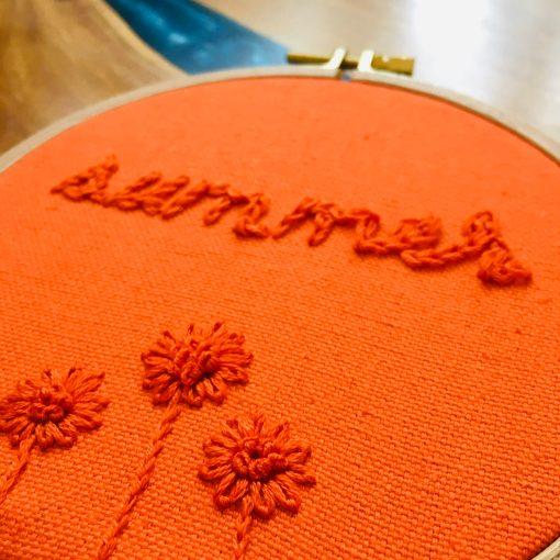 Mindful Lettering Embroidery Workshop