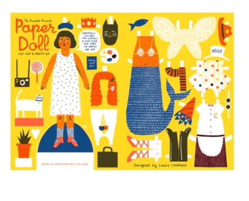 The Printed Peanut cut out paper doll whole