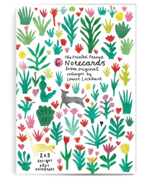 The Printed Peanut - notecards Collages white