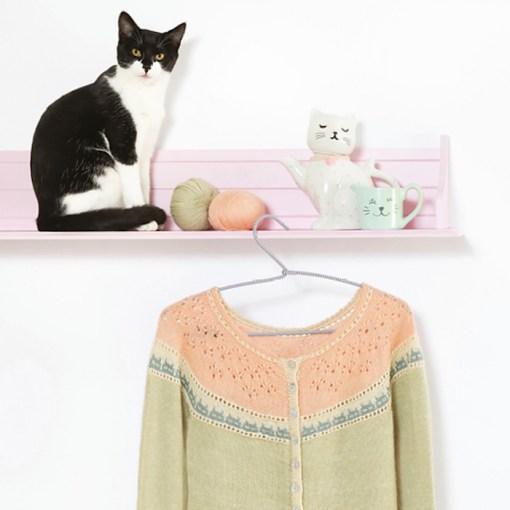 Cat Knits - marna Gillian tiny cats cardigan