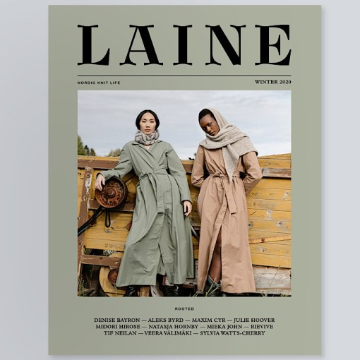 Laine Magazine - Issue 10 Cover on background