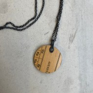 Clare Hillerby Ruler Pendant Necklace Round