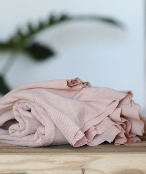 Meet Milk _ Fine Rib Jersey - Powder Pink