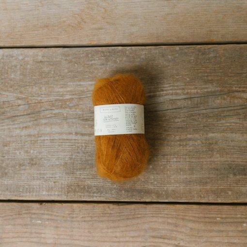 biches et buchs le petit mohair soft orange brown