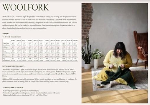 Woolfork size chart Embody - Jacqueline Cieslak by Pom Pom Press