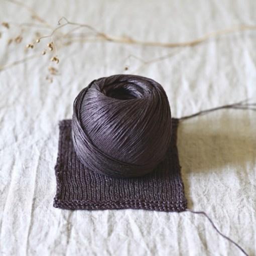 A knitted sample of Antigone - de Rerum Natura