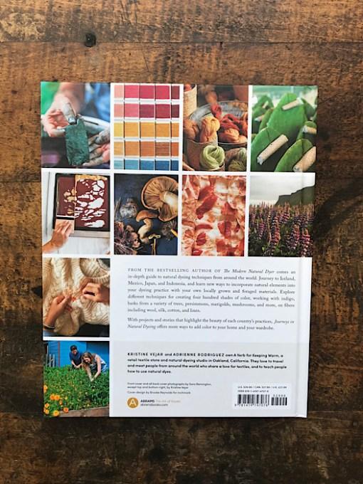Back of Journeys in Natural Dyeing - Kristine Vejar & Adrienne Rodriguez