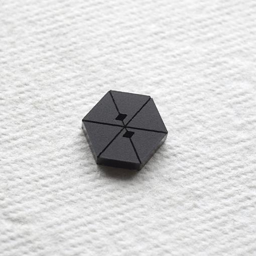 Black The Hex Button - Arrow Mountain