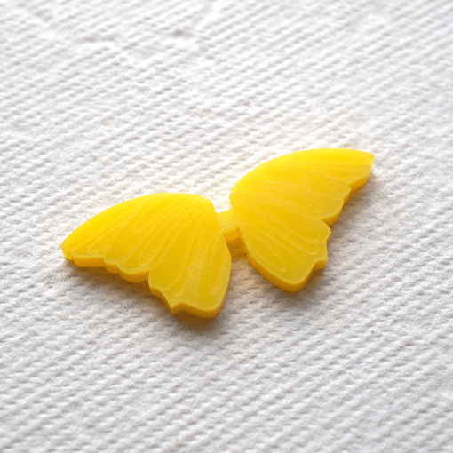 Yellow The Butterfly Button - Arrow Mountain