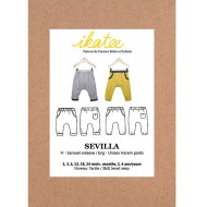 Sevilla Unisex Harem Pants - Ikatee Paper Sewing Pattern Front cover