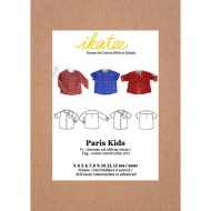 Front cover Paris Shirt kids - Ikatee Paper Sewing Pattern