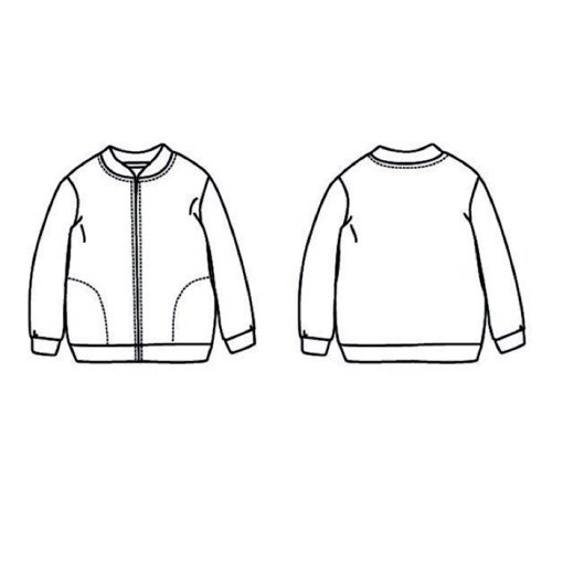 View Jules Bomber Jacket/Vest - Ikatee Paper Sewing Pattern