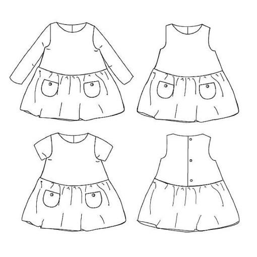 Overview Helsinki Dress - Ikatee Paper Sewing Pattern
