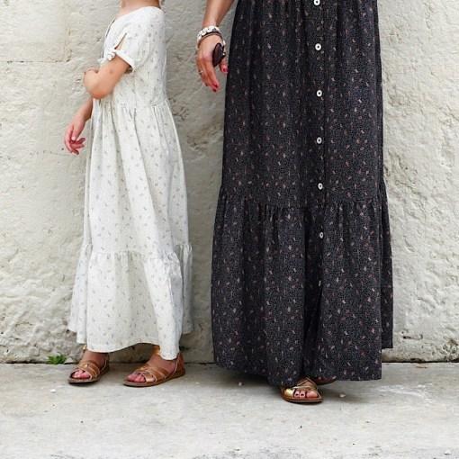 Modeling Anna Mum Dress - Ikatee Women Paper Sewing Pattern