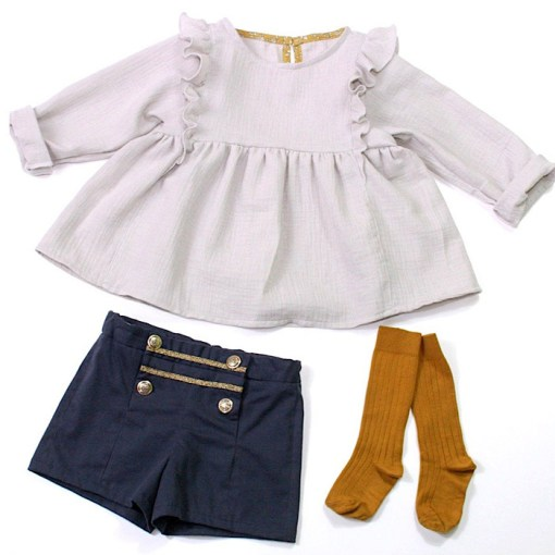 Sample flatlay Stella Blouse & Dress - Ikatee Paper Sewing Pattern