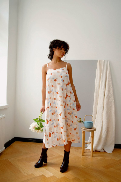 SORJA dress building the pattern named